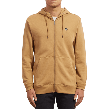 SWEAT VOLCOM SINGLE STONE ZIP HOODIE - OLD GOLD