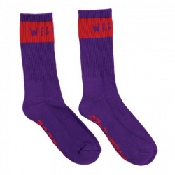 CHAUSSETTES WELCOME SUMMON SOCKS - PURPLE RED