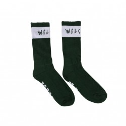 CHAUSSETTES WELCOME SUMMON SOCKS - FOREST WHITE