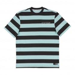 T-SHIRT WELCOME BIG BEAUTIFUL STRIPE - BLACK TEAL