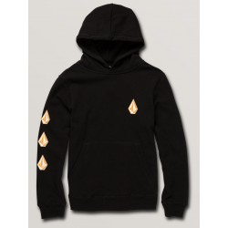 SWEAT VOLCOM KID DEADLY STONE P/O - BLACK