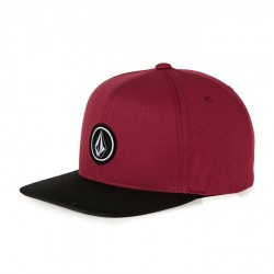 CASQUETTE VOLCOM YOUTH QUARTER SNAPBACK - BURGUNDY