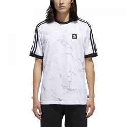 T-SHIRT ADIDAS MARBLE AOP CLUB - WHITE / BLACK