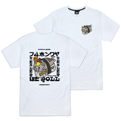 T-SHIRT TEALER SUSHI CAT - WHITE