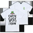 T-SHIRT TEALER EARTH SUCKS - WHITE