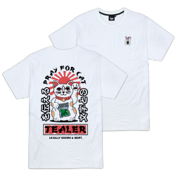 T-SHIRT TEALER PRAY FOR CAT - WHITE