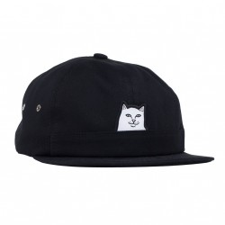 CASQUETTE RIPNDIP LORD NERMAL 6 PANEL POCKET - BLACK