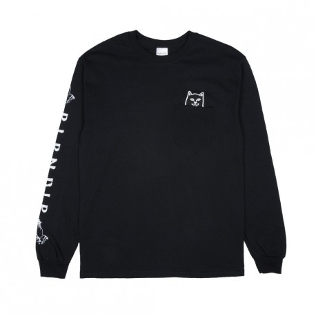 T-SHIRT RIPNDIP LORD JERMAL L/S - BLACK