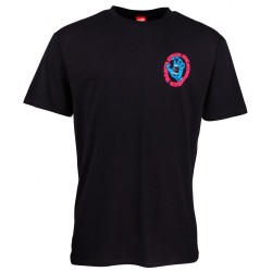 T-SHIRT SANTA CRUZ SCREAM TEE - BLACK