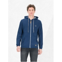 SWEAT PICTURE PREMIUM ZIP - DARK BLUE