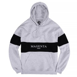SWEAT MAGENTA PARIS HOODIE - HEATHER GREY