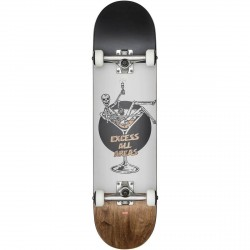 "BOARD COMPLETE GLOBE G1 EXCESS 8"" - WHITE BROWN"