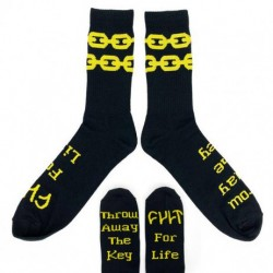 CHAUSSETTES CULT CHAINS - BLACK YELLOW