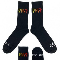 CHAUSSETTES CULT MULTI COLOR LOGO - BLACK