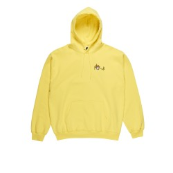 SWEAT POLAR CASTLE FILL LOGO HOOD - YELLOW