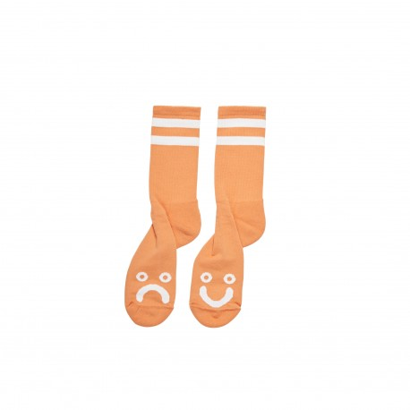 CHAUSSETTES POLAR HAPPY / SAD - ORANGE