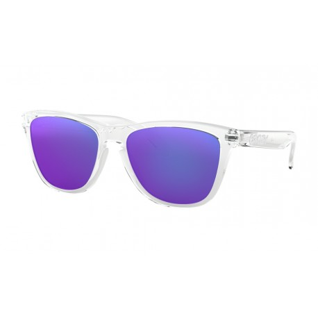 LUNETTES OAKLEY FROGSKINS POLISHED CLEAR / VIOLET IRIDIUM