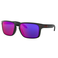 LUNETTES OAKLEY HOLBROOK MATTE BLACK / RED IRIDIUM