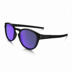 LUNETTES OAKLEY LATCH MATTE BLACK / VIOLET IRIDIUM