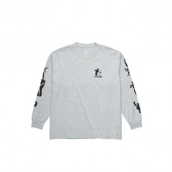 T-SHIRT POLAR GNARHAMMER LS - SPORTS GREY