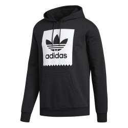 SWEAT ADIDAS SOLID BB HOOD - BLACK WHITE