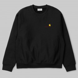 SWEAT AMERICAN SCRIPT CREW - BLACK
