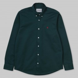 CHEMISE CARHARTT WIP MADISON LS - DARK FIR MERLOT
