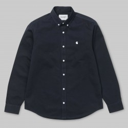 CHEMISE CARHARTT WIP MADISON LS - DARK NAVY WHITE