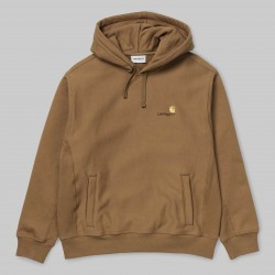 SWEAT CARHARTT WIP HOODED AMERICAN SCRIPT - HAMILTON BROWN