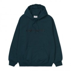 SWEAT CARHARTT WIP HOODED - DUCK BLUE BLACK