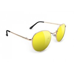 LUNETTES GLASSY RIDLEY - GOLD YELLOW LENS