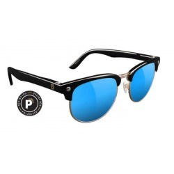 LUNETTES GLASSY MORRISON POLARIZED - BLACK BLUE MIRROR