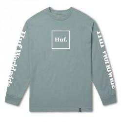 T-SHIRT HUF DOMESTIC LS - CLOUD BLUE