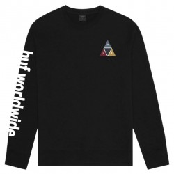 SWEAT HUF PRISM CREW - BLACK