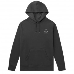 SWEAT HUF ESSENTIALS TRIPLE TRIANGLE HOOD - BLACK