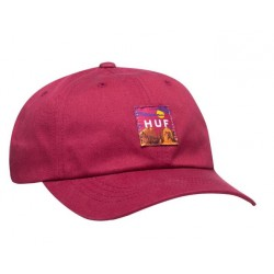 CASQUETTE HUF SEDONA CV 6 PANEL - ROSE WOOD RED