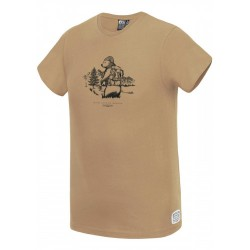 T-SHIRT PICTURE ORGANIC BEARDY D&S - SAND