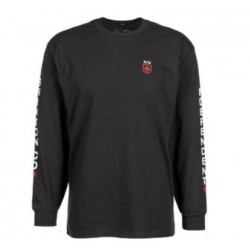 T-SHIRT BRIXTON X INDEPENDENT FRAME LS - BLACK