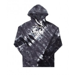 SWEAT TEALER TIE AND DYE HOODIE - BLACK