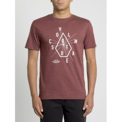 T-SHIRT VOLCOM EYECHART HTH SS - CRIMSON RED