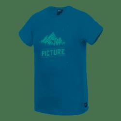 T-SHIRT PICTURE ORGANIC BA LANDSCAPE - PETROL BLUE