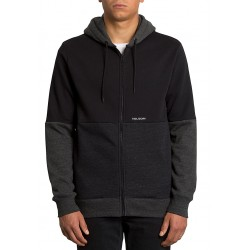 SWEAT VOLCOM SINGLE STONE DIV ZIP HOODIE - BLACK