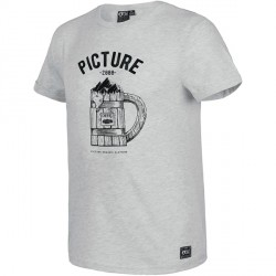 T-SHIRT PICTURE ORGANIC BEER - GREY