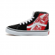 CHAUSSURES VANS SK8-HI JUNIOR - HEEL SCAB BLACK WHITE