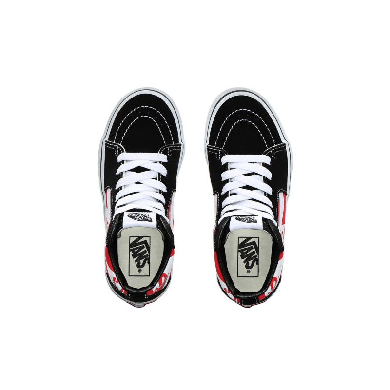 Chaussures Vans Sk8 hi Junior Heel Scab Black White