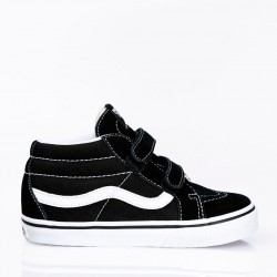 CHAUSSURES VANS SK8 MID REISSUE JUNIOR V - BLACK WHITE