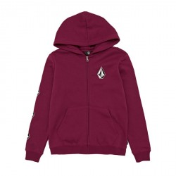 SWEAT VOLCOM KID DEADLY STONE HOODIE ZIP - PLUM RED