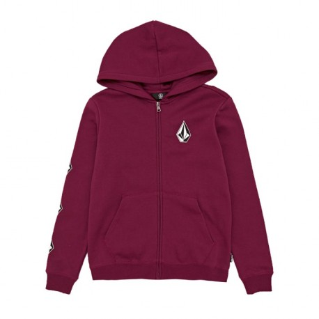 SWEAT VOLCOM KID DEADLY STONE ZIP -