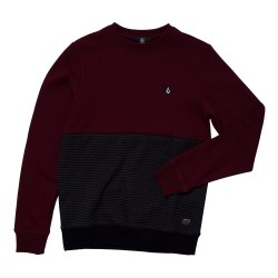 SWEAT VOLCOM KID FORZEE CREW - CABERNET RED