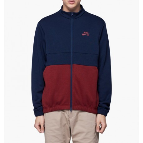 SWEAT NIKE SB DRY JACKET TRACK - OBSIDIAN TEAM RED